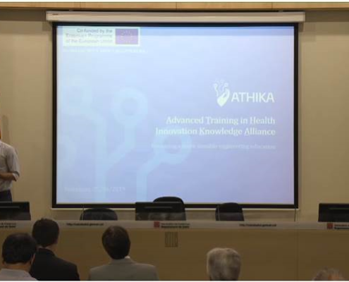 Presentation of ATHIKA project in symposium